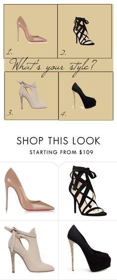 """""""Shoes!!"""" by baileyoutfitters ❤ liked on Polyvore featuring Christian Louboutin, Nine West, Jimmy Choo and Giuseppe Zanotti"""