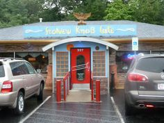 My favorite restaurant, the Stoney Knob Cafe, Weaverville, NC (north Asheville.)