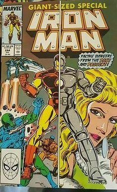 1989 Iron Man #244 VF Force New Iron Man First Print News Stand Marvel Comics