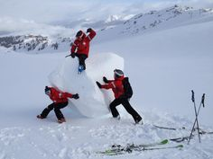 Whistler Ski Patrol. The pioneers used to ride these babies for miles!