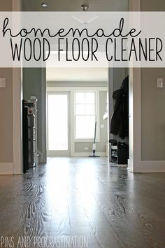 A clean home really starts with clean floors. If your hardwood floors don't feel clean, it's hard to feel like anything else is. A lot of homemade wood floor cleaners are very acidic, which can wear away the finish on the floor. I came up with a recipe that does a great job cleaning, will not damage your finish, and only costs 32 cents! Believe me when I say this green hardwood floor cleaner does not disappoint.
