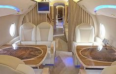 inside of my......uh, somebody's private jet.  *giggles* via privatejetsforsale.net