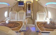 inside my private jet