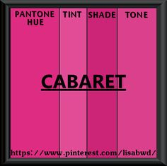 PANTONE SEASONAL COLOR SWATCH CABARET