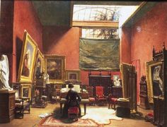 Ary-Johannes Lamme: The small atelier at rue Chaptal, where Ary Scheffer entertained friends.