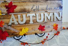 DIY Autumn Pallet Sign - The Benson Street