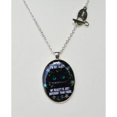 I'm not crazy glow Necklace Limited edition Alice in Wonderland Collection