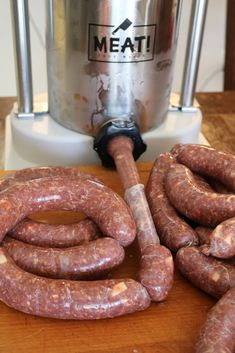 In Austria, this sausage is known as Kasekrainer and is found in almost every city, most commonly as a street food. In this wild version, the pork is substituted with venison and antelope. Venison Summer Sausage Recipe, Summer Sausage Recipes, Venison Recipes, Food Street Game, Venison Backstrap, Wild Game Recipes, Cheese Cubes, Blueberry Sauce