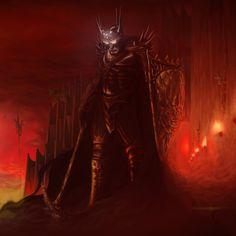 Morgoth in Angband. Angband fue la armería y arsenal de Melkor, más tarde llamado Morgoth, confiada a Sauron su lugarteniente, mientras Utumno existió. Después del retorno de Morgoth a la Tierra Media se convirtió en su principal fortaleza. Estaba ubicada en el extremo noroccidental de la Tierra Media, más allá de Beleriand, confrontándose con Hithlum. Fue originalmente ubicada allí para prevenir cualquier ataque de los Valar desde Occidente.