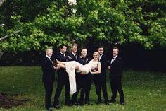 Funny wedding bridal party photos