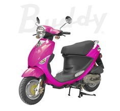 My passion pink Buddy scooter Best Scooter, Moped Scooter, Vespa, Pink Moped, 49cc Moped, Motorcycle Images, Honda Ruckus, Presents For Girls, Motor Scooters