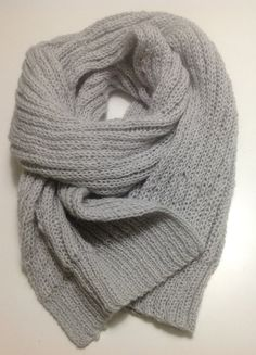 Chunky mens scarf - Super Chunky scarf - Super bulky scarf - Grey scarf - Men scarf - Gift for him