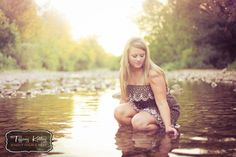 """""""girl in water"""" How philosophical. Other titles considered """"girl squatting to pee"""" Water Photography, Senior Photography, Senior Portraits, Senior Pictures, Picture Poses, Picture Ideas, Water Shoot, Branson Missouri, Girl In Water"""
