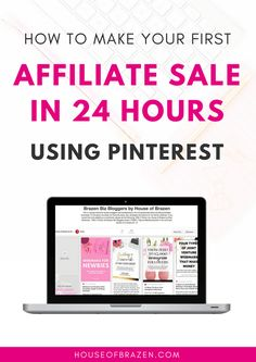 Learn how to make your first affiliate sale in 24 hours using Pinterest. If you want to monetize your blog and increase sales, use Pinterest. Find out how!