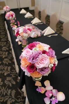Our head table :) black and pink