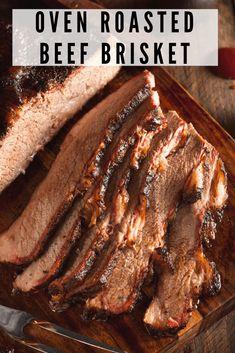 Oven Roasted Brisket, Beef Brisket Oven, Oven Roast Beef, Beef Brisket Recipes, Roast Brisket, Meat Recipes, Cooking Recipes, Brisket In The Oven, Spinach Recipes