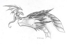 Another dragon for . Well, that was a kind of interesting experiment. - Another dragon for . Well, that was a kind of interesting experiment. I've started this one aroun - Fantasy Drawings, Cool Art Drawings, Pencil Art Drawings, Art Drawings Sketches, Animal Drawings, Fantasy Art, Interesting Drawings, Wings Of Fire Dragons, Dragon Sketch