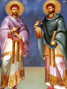 Themis Petrou - Saint Athanasio's Church - Find Creatives Byzantine Icons, Orthodox Icons, Nashville Tennessee, Fresco, Gabriel, Saints, Creative, Fresh, Archangel Gabriel