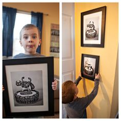 A cool wall art project for the kids play room. Use their favorite toy or action figure, in our case Skylanders, to add a cool personal touch to their rooms!!