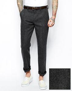 Image 1 ofASOS Slim Fit Smart Trousers In 100% Wool