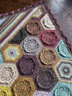 Dutch Rose Blanket Free Crochet Pattern | Free Crochet Patterns