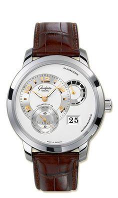 90-03-31-14-05 Glashutte Original Panomatycreserve XL - швейцарские мужские наручные часы - золотые, белые