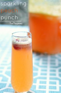 Sparkling Peach Punch is so refreshing! I love the fresh peach and raspberry flavors!