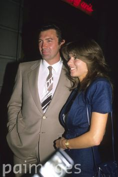 English actor Lewis Collins picture with his wife Michelle Larrett. circa 1992.