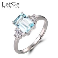 ALLURING 1.5 CT ROUND AQUAMARINE BLUE 925 STERLING SILVER RING SIZE 5-10
