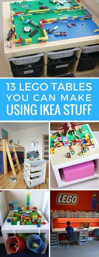 LOVE these Ikea Lego table hacks! Now to convince hubby we need to go to the store!