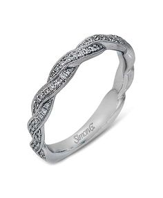 Simon G Twist Diamond Wedding Band : This diamond wedding band by Simon G features pave set round brilliant cut diamonds in a twist with milgrain edges. Diamond Wedding Bands, Wedding Rings, Wedding Bells, Wedding Engagement, Engagement Rings, Right Hand Rings, Dream Wedding, Wedding Stuff, Wedding Ideas
