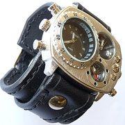 Leather Wrist Watches by loversbracelets on Etsy