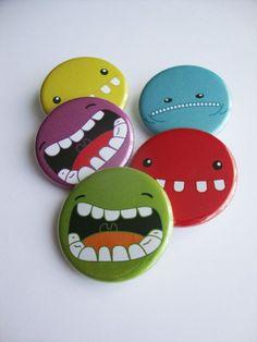 - Nine&lesO Button Badge, Button Art, Pin Button, Badge Maker, Crea Fimo, Button Maker, Rock Design, Badge Design, Pin And Patches