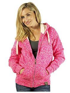 G2 Chic Women's Fur-Lined Zip Hoodie