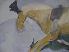 Horse cariing a funeral federcap