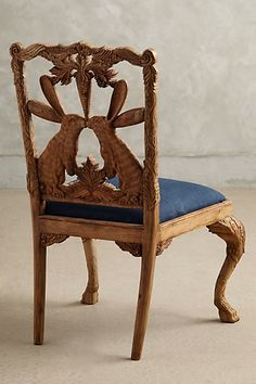 Back view ~ Handcarved Menagerie Dining Chair - $798.00 - anthropologie.com