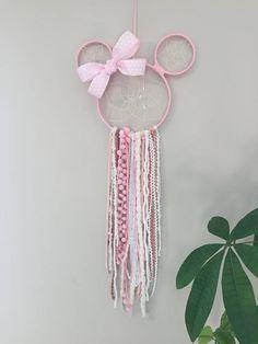 Minnie Mouse Dreamcatcher, Dreamcatcher, little girl Dreamcatcher, Disney fan decor, Disney Dreamcatcher, little princess wall hanging