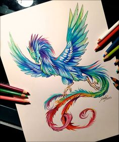 Pencil Art Colorful art just for you! by Bella Lovette — Kickstarter Drawing Dragon, Dragon Art, Animal Drawings, Cool Drawings, Pencil Drawings, Color Pencil Art, Dragons, Colored Pencils, Drake