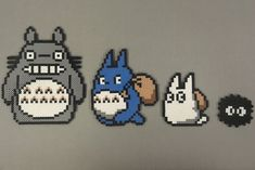 Perlers of Totoro and the two mini Totoro's, as well as a Sootball from the classic Studio Ghibli film My Neighbor Totoro. I'm not sure where the reference for these originates from because i found...