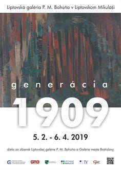 Výstava umelcov patriacich do Generácie 1909 v Liptovskej galérii P. M. Bohúňa od 5.2 - 6.4. 2019. Diela zo zbierok Liptovskej galérie a Galérie mesta Bratislavy. Tv, Television Set, Television