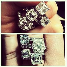 #Asschercut #diamond #engagementrings from #hydeparkjewelers #instagram