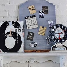 DIY: faux zinc memo board