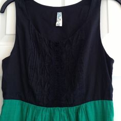 SALE!!!✅ANTHROPOLOGIE Maeve green and black dress The top of this dress is jet black with beautiful black lace and needlework detailing. The bottom is a lovely green with horizontal stitched bands near the hem. A real beauty of a dress ;) in great condition. No flaws. Anthropologie Dresses