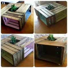 Table basse cagettes - DIY FB : Recup'Spirit