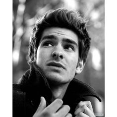 Oh, hello ;) / Andrew Garfield ❤ liked on Polyvore featuring andrew garfield, people, boys, hair and pics