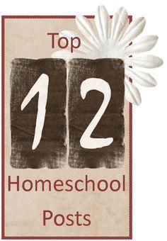 Top 12 Homeschooling Posts of 2012
