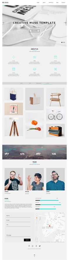 Creative Multi-Purpose Muse Template. WINO is a modern and clean Adobe Muse template designed for Portfolio, Creative, Photography, Landing, Agency or Multipurpose. To edit this template with Adobe Muse is very easy! You can change colors, texts or replace the images in a few minutes. Desktop Tablet and Mobile version are included!.