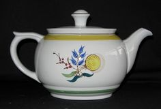 "Vintage Arabia ""Windflower"" 32 oz. Oval Teapot in Mint, Unused Condition. $39.95, via Etsy."
