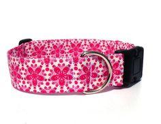 Hund: Halsbänder - Hundehalsband Ornamente pink - ein Designerstück von pepanella bei DaWanda
