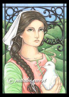 Saint Joan of Arc by natamon {Natalie Ewert} on deviantART ~ mixed media